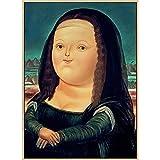 shuimanjinshan Arte nórdico Divertido Mona Lisa Pinturas en Lienzo de Fernando Botero Famosos Carteles e Impresiones artísticos de Pared Cuadros de Arte Abstracto Cuadros 50X70cm No Frame U-1075