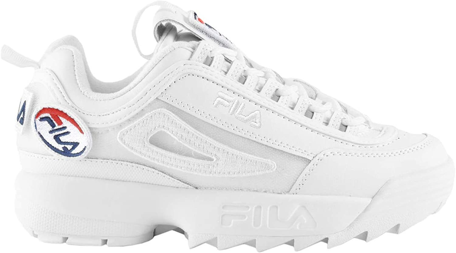 Fila Womens Disruptor II Patches Leather Synthetic Trainers