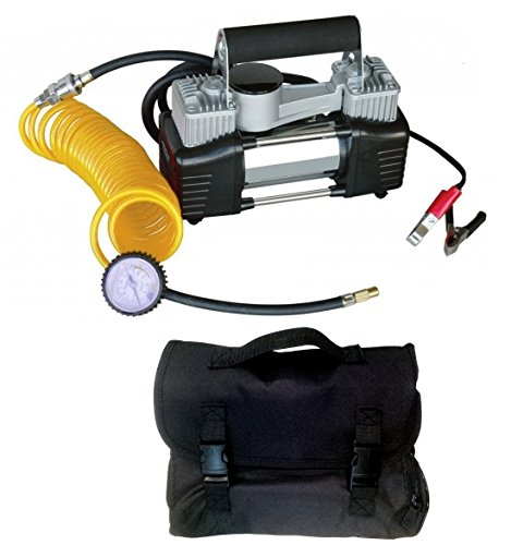Mini compressore a doppio cilindro professionale con borsa/zaino 12V portatile