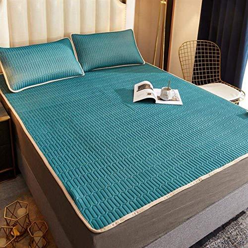 Sommer-EIS-Silk Matratze, Faltbare Ice Silk Latex-Matratze Atmungsaktiv Und Weich Mit EIS-Silk Pillowcase Klimaanlage Mat180 * 200cm