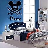 decoración de arte pegatinas de pared de dibujos animados mascota rata decoración de pared para pirata decoración cuchillo niño | murales, calcomanías de arte, decoración del hogar