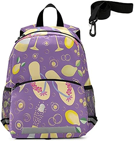 Champagne Bubbles Kids Toddler New mail order Backpack OFFicial site Flip with Leash Harness