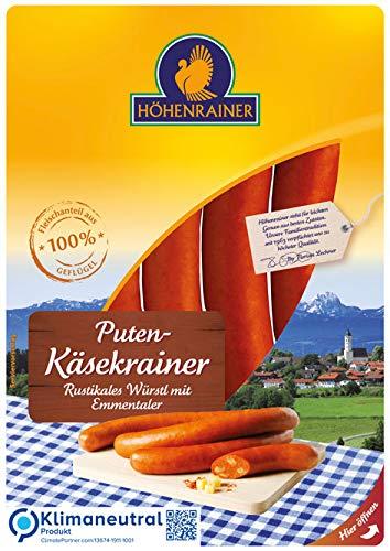 Höhenrainer Puten-Käsekrainer mit Emmentaler, 4 Stück