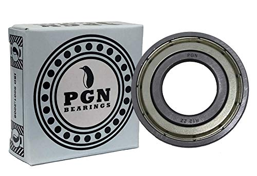 """(10 Pack) PGN - R12-ZZ Shielded Ball Bearing - C3-3/4""""x1-5/8""""x7/16"""" - Lubricated - Chrome Steel"""