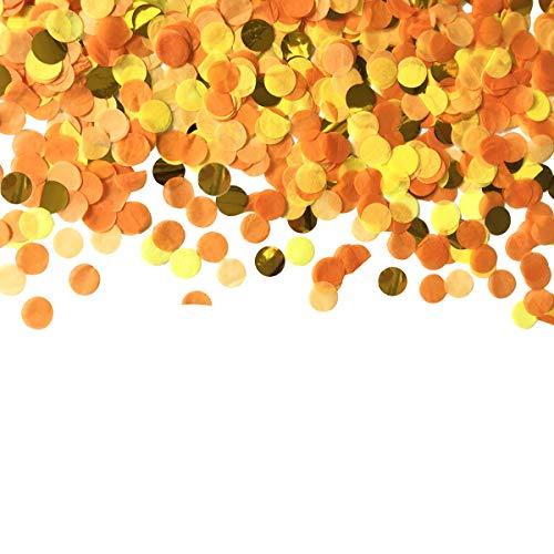 Tischkonfetti 30 g Punkte Konfetti 2,5 cm Seidenpapier Rund Party Konfetti für Bachelorette Abschlussfeier oder zum Befüllen von Luftballons Orange Set