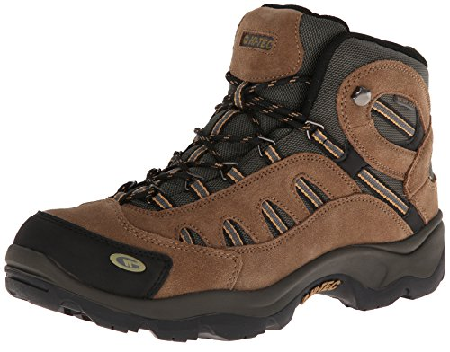 Hi-Tec Men's Bandera Mid Waterproof Hiking Boot, Bone/Brown/Mustard, 9 M US