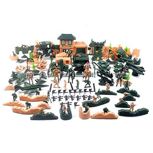 Nostalgische Soldaten Militaire Scène Oorlog Pak Plastic Model, Jongen Oorlog Slag Decoratie Model, Hobby Inzameling, Cadeaus