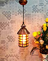 Material :- Antique Metal & Brown Glass ,Size in CM :- H22 x L16 and Cord Length 80CM, Overall Height along with Wire (Cord ) 105CM Holder Type :- E27 Screw Type Holder ( Bulb Not included) Suitable for :- Home> Bed Room, Living Room, Over the Dining...
