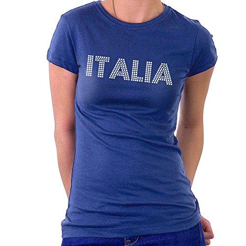 Euro 2016 Football Italy Italia Dots Blue Women's T-Shirt