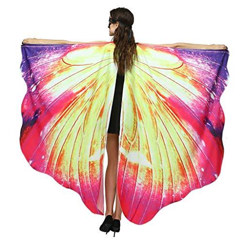 iYmitz Karneval Schmetterlingsflügel Kostüm Damen Schmetterling Schal Flügel Tuch Fasching Kostüme Halloween Weihnachten Party Fasching Kostüm Schmetterling Schal