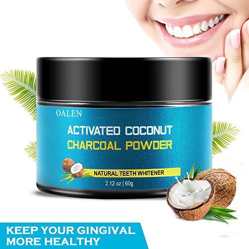 Blanqueamiento de dientes de carbón activado, blanqueador de dientes 100% natural,...