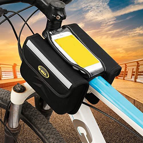 yueydengsun B-SOUL Bolsa de manillar de bicicleta universal para bicicleta, bolsa impermeable para bicicleta de montaña y carretera, bolsa para teléfono