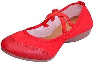 Inlefen Women's Low Heel Ballroom Dancing Shoes Performance Flats Shoe Leisure