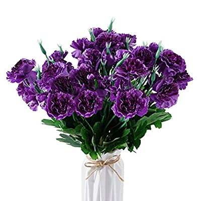 Beferr Artificial Carnation Bouquets Silk Petal...