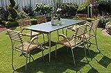 Beauty.Scouts Gartentisch 'Sydney' Tisch Esstisch Beistelltisch Gartenmöbel 90 x 72 x 150 cm Garten Anthrazit