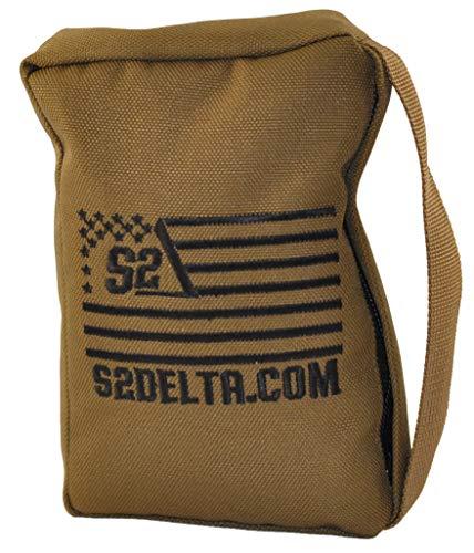 S2Delta Tactical Rear Squeeze Bag, Shooting Rest, Long Range Shooting Rest, PRS Precision, Medium Barricade Bag, (Coyote Tan, 1lb)