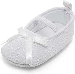 baby girl white baptism shoes
