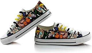 XYUANG Naruto Uzumaki Naruto/Sasuke/Kakashi Unisex Anime Casual Student Canvas Sneakers Cuerda para Zapatos con Suela de Z...