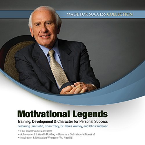 Motivational Legends     Training, Development & Character for Personal Success              Written by:                                                                                                                                 Jim Rohn,                                                                                        Brian Tracy,                                                                                        Denis Waitley,                   and others                          Narrated by:                                                                                                                                 Jim Rohn,                                                                                        Brian Tracy,                                                                                        Dr. Denis Waitley,                   and others                 Length: 10 hrs and 39 mins     3 ratings     Overall 4.7