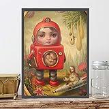 YuanMinglu Princesa póster Impresiones del Cartel Pintura al óleo Arte de la Pared Imagen de la Pared Dormitorio Oficina decoración del hogar Accesorios Pintura sin Marco 60x75cm