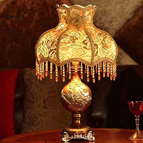 WEI-LUONG Lámparas de mesa, personalidad simple lámpara de cabecera, Habitación Sala Estilo Europeo Jardín acogedora habitación de la lámpara, E27 o E14 llevó la lámpara, Reading luz de la noche, lámp