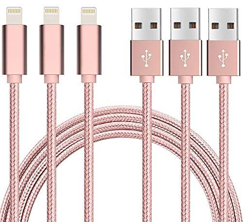 YooGoal Nylon Geflochtenes lightnuing Ladekabel USB Cable Datenladekabel Schnellladegerät Kabel mit für i Phone XS MAX XS X 8 8 Plus 7 7...