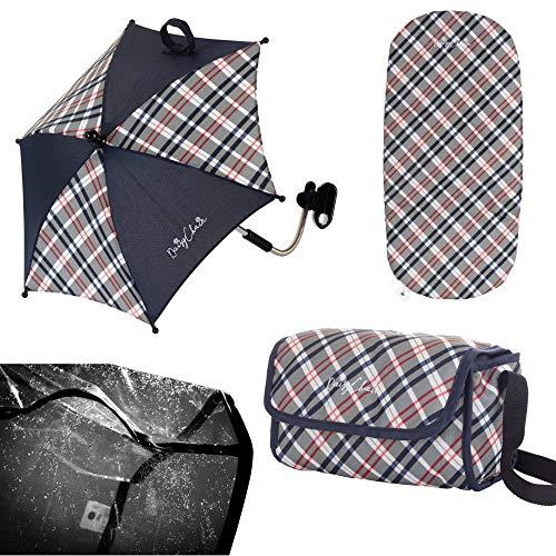 Play Like Mum Daisy Chain Dolls Pram Accessory Pack - Classic Check Fabric