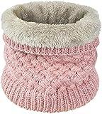heekpek Calentador de Cuello Bufanda de Tubo Lazo para Hombre y Mujer Multifuncional Grueso y Cálido Bufanda y Gorra para Deportes de Invierno Desgaste de Pareja Fulares (Rosa)
