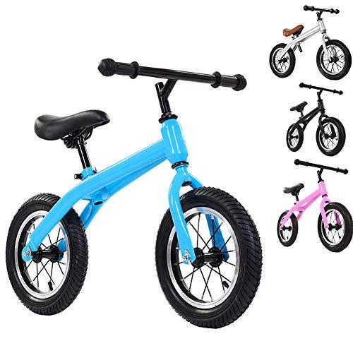 Balance Bike Bicicleta para niños Bicicleta para niños pequeños, el Asiento se Puede Ajustar y el vehículo no Tiene ángulos Agudos, Adecuado para niños,Azul
