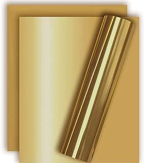 Light Gold Metallic Foil HTV Heat Transfer Vinyl for Tshirt and Apparel 12
