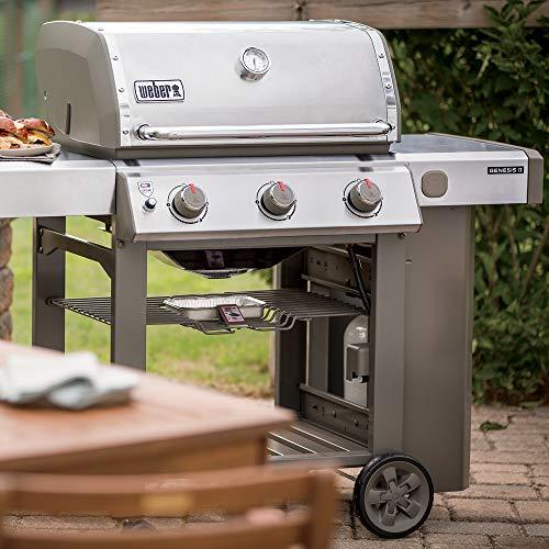 Weber 61001001 Genesis II S-310 Liquid Propane 3-Burner Grill, Stainless Steel