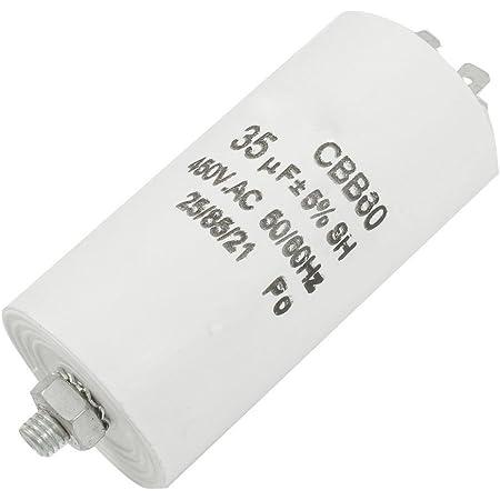 Gaoominy CBB60 AC 450V 35UF 8mm fil film polypropylene Condensateur de fonctionnement du moteur blanc