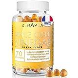 Gummies de Vinagre de Sidra - Suplemento Alimenticio Adelgazante y Anti-Cansancio - 70 Gummies - Tratamiento 1 mes - Vegano - Hecho en Francia - Vitamina B9, Vitamina B12, Cromo y Saúco