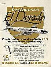 El Dorado Braniff Douglas DC-7C coming October 20th ad 1956 SEP