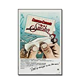 XiongDa Up in Smoke Movie Poster Cheech and Chong Canvas Painting Wall Art Picture for Home Wall Decor -20X28 Inch No Frame