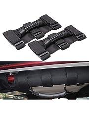 ELR Grijpen Handgrepen Set voor Jeep Wrangler Roll Bars, Easy-to-Fit 3 Bandjes Roll Bar Grab Handgrepen Grip Handvat voor Jeep Wrangler Accessoires