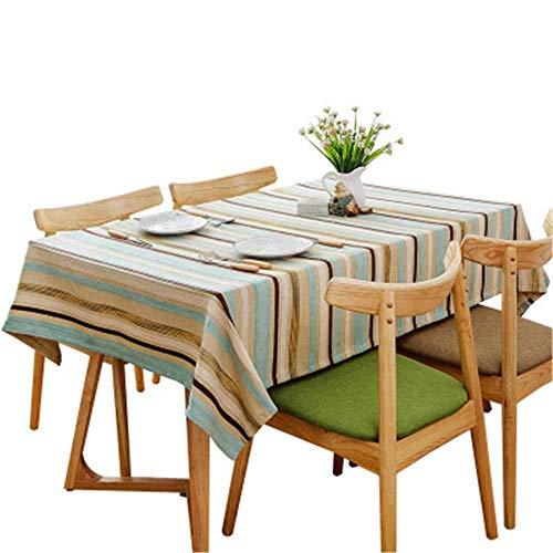 TWTIQ Tovaglia A Righe Semplice Moderna Moderna Tovaglia da Hotel Rettangolare Tavolo da Cucina Decorazione A 110 * 110 Cm