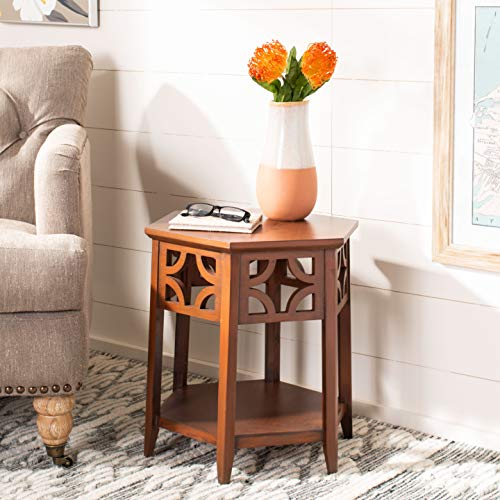 Safavieh American Homes Collection Connor Light Brown Hexagon End Table