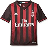 adidas Jungen Fußball/Heim-trikot AC Mailand Replica, Black/Victory Red/Granite, 140