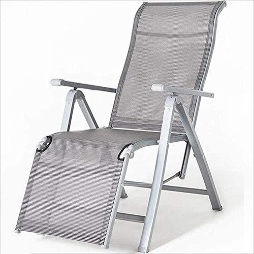 Silla Tumbona reclinable/Plegable con apoyabrazos Patio del jardín al Aire Libre portátil de Aluminio reclinable Moderna del diseñador Informal xiuyun