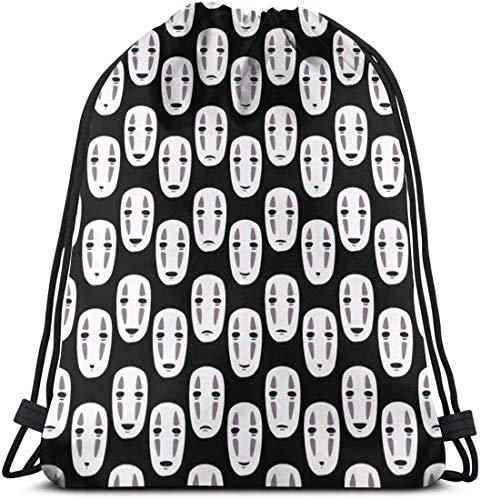KINGAM Mochila casual con cordón inspirado en Noface con diseño de mochila de hombro ligera para las mujeres
