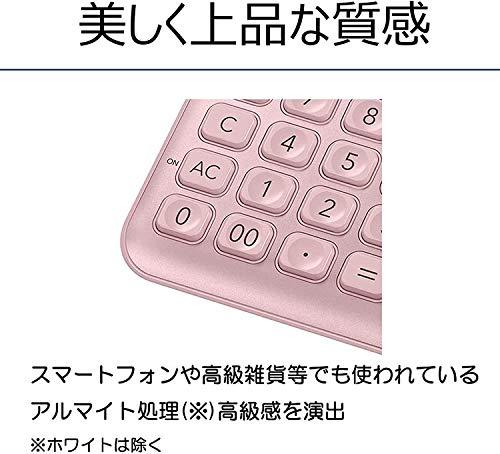 カシオスタイリッシュ電卓ライトピンク12桁ジャストタイプJF-S200-PK-N