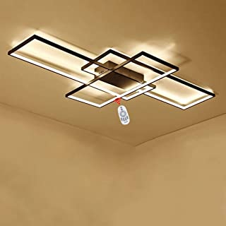 LED Lámpara de Techo de Salón Moderna Diseño Cuadrado Luz de Techo de Comedor Pantalla de acrílico Lámpara de Comedor Balcón Dormitorio Decoración Iluminación de Techo