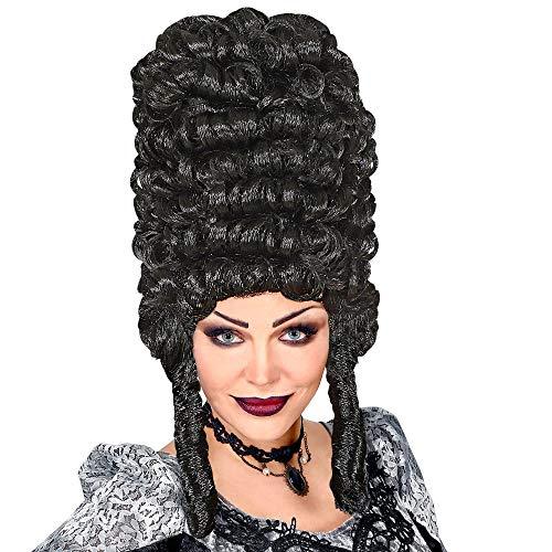 WIDMANN 62491 extra hoge gothic dames pruik, zwart, eenheidsmaat