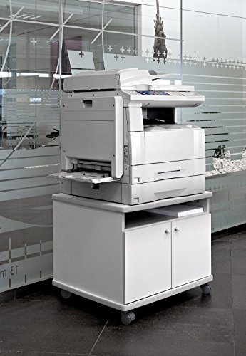 Mesa fotocopiadora e Impresora ber-copian60 Blanco Roto de 56h, 60cm Fondo, 70cm Ancho