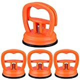 4 Pieces Car Dent Repair Tool Suction Cup Dent Puller Remover Car Body Handle Lifters Dent Pullers Removers for Car Dent Repair, Glass, Tiles, Mirror, Granite Lifting and Objects Moving (Orange)
