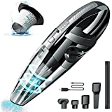 Handheld Vacuums Cordless Powered Battery Rechargeable Quick Charge Tech, Small and Portable Waterwashable Filter with Powerful Cyclonic Suction vacuums Cleaner for Home Office and Car Cleaning