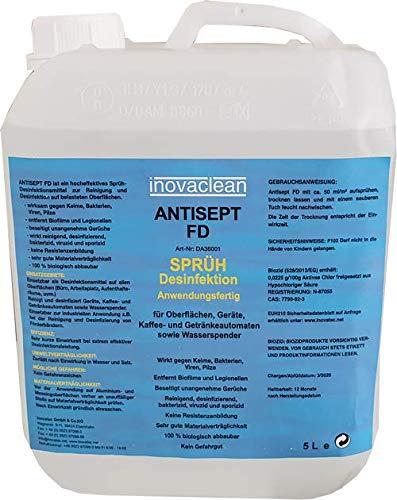 Desinfektionsmittel inovaclean 5 Liter Kanister VIRUZID, gegen Viren, Bakterien, Keime und Pilze (SINNVOLL AUFGRUND DER AKTUELLEN SITUATION IM LAND)