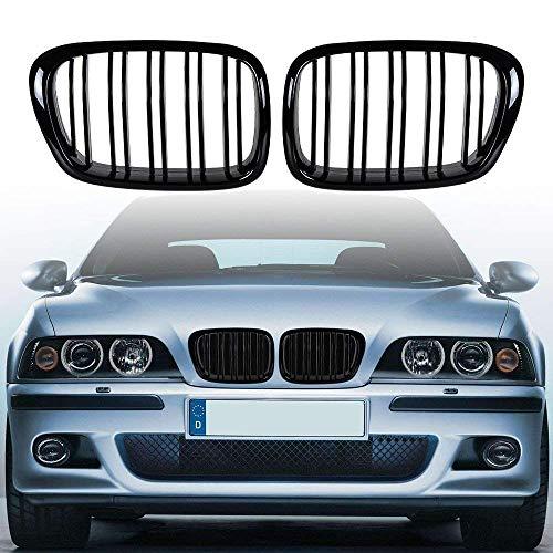 i-Shop 1999–2003 E39 5er-Serie schwarz M5 Kühlergrill glänzend schwarz Fronthaube Nieren Grill Paar