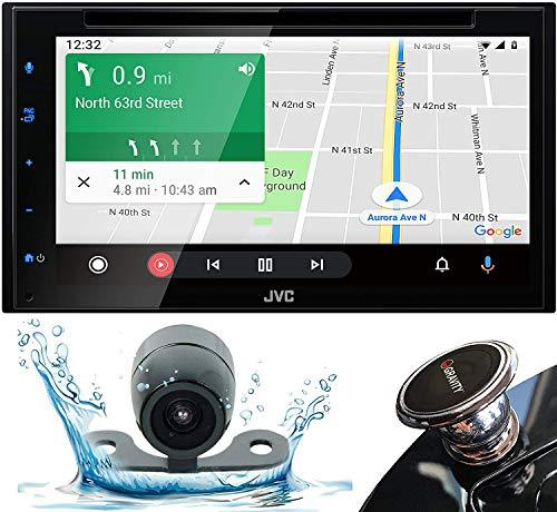 "JVC D.Din 6.8"" Touchscreen AM/FM/CD/BT Mechless SiriusXM Apple Car Play &Android Auto"